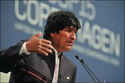 Morales - bei der alternativen Klimakonferenz April 2010